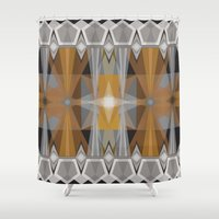 prism Shower Curtains featuring Gold Prism by Lunamumma