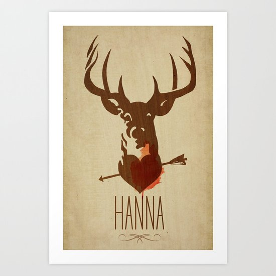 HANNA film tribute poster Art Print