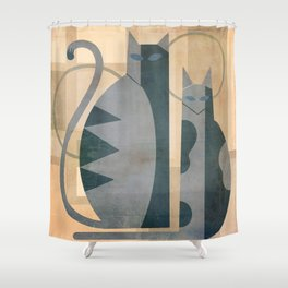 The Mysterious Minds Of Modern Cats Shower Curtain