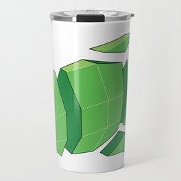 Illustration of a 3D Paper Craft Fish Model Travel Mug