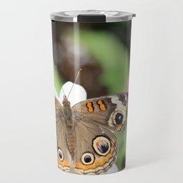 Beautiful Buckeye Butterfly Travel Mug