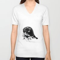conan V-neck T-shirts featuring old ass conan by RandomRobot