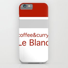 Le Blanc Coffee & Curry iPhone Case