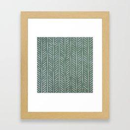 Chalkboard herringbone pattern Framed Art Print