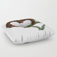 natural hearts Floor Pillow