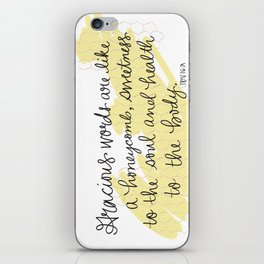 Honeycomb - Proverbs 16:24 iPhone Skin