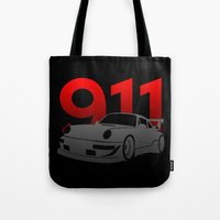 porsche Tote Bags featuring Porsche 911 by Vehicle