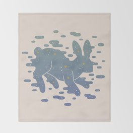 Lepus Constellation: Pastel Throw Blanket
