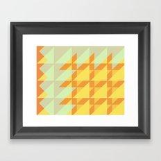 Canary Geometry  Framed Art Print