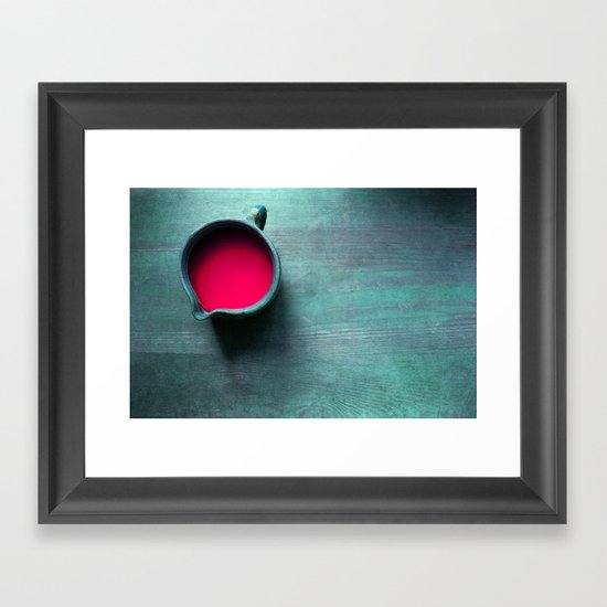 pink water Framed Art Print