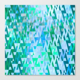 Energy Field (green-blue) Canvas Print