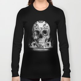 Pulled sugar, day of the dead skull Long Sleeve T-shirt
