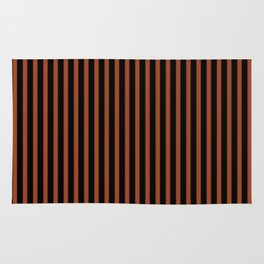 Potter's Clay and Black Stripes Rug