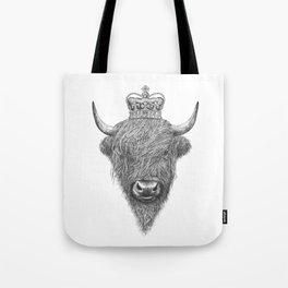 The King Highland Bull Tote Bag