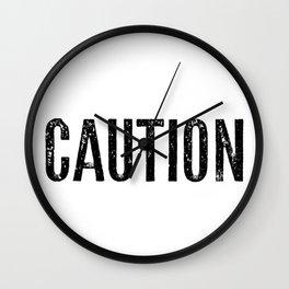 Caution Wall Clock