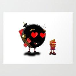 The spark of love Art Print