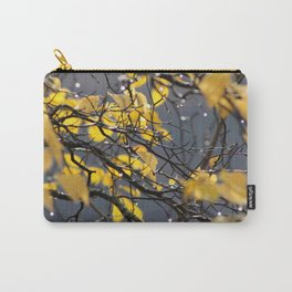 Yellow Birch Leaves, Raindrops, & Sunlight 2 Carry-All Pouch