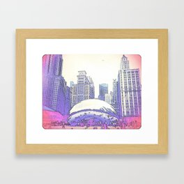 """""""Chi-Town"""" Framed Art Print"""