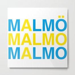 MALMO Swedish Flag Metal Print