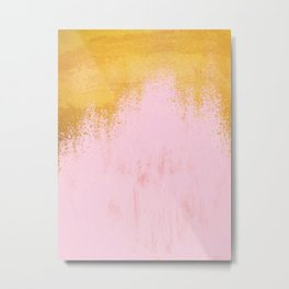 Gold Rush - Pink Metal Print