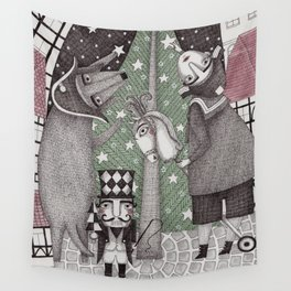 Of Snow and Stars and Christmas Wishes Wall Tapestry