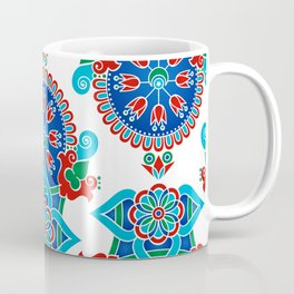 Colorful tribal ethnic geometric floral pattern Coffee Mug