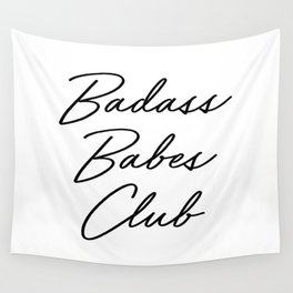Badass Babes Club 2 Wall Tapestry