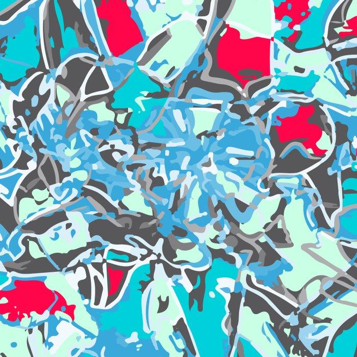 light trails blue Comforters