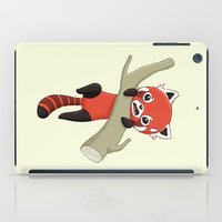 red panda iPad Cases featuring Red Panda by Freeminds