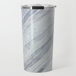Gray white abstract geometrical stripes marble Travel Mug