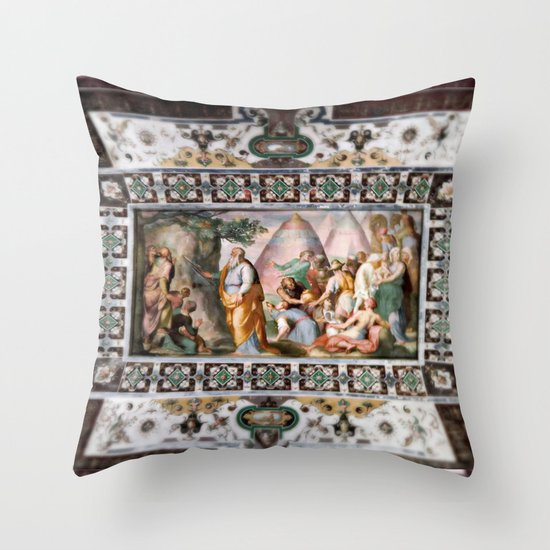 The Italian Ceiling Throw Pillow