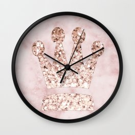 Rose gold - crown Wall Clock