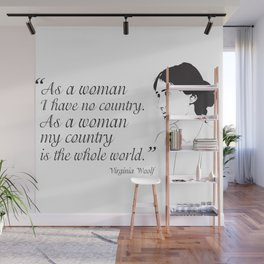 Virginia Woolf Feminist Quote Wall Mural
