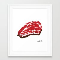 meat Framed Art Prints featuring meat by Takeru Amano