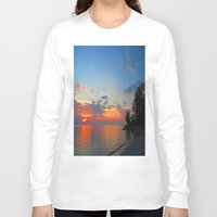 thailand Long Sleeve T-shirts featuring A Thailand sunset by I AmErika