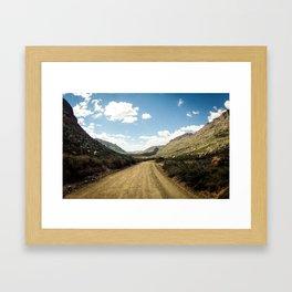 Adventure's highway Framed Art Print