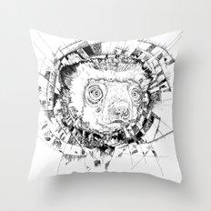 HYPNOTIZED Lemur Throw Pillow