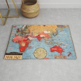 Map Of World War 2 Rug