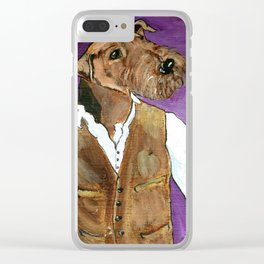 Best dressed Airedale Clear iPhone Case