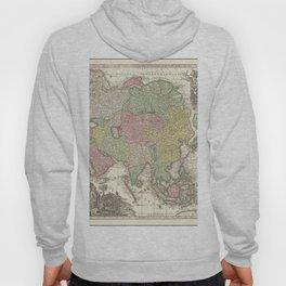 Vintage Map Print - 1740 map of Asia by Matthaus Seutter Hoody