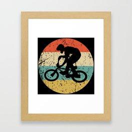 BMX Vintage Retro BMX Bike Rider Framed Art Print