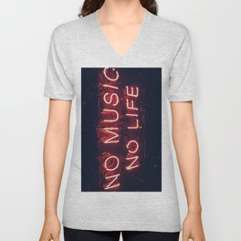 No Music No life Unisex V-Neck