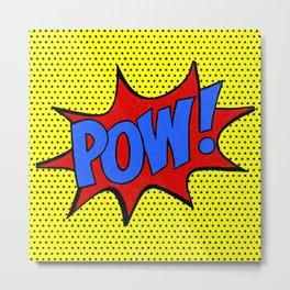 Pow! Metal Print