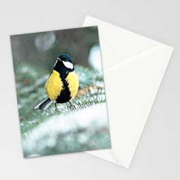 Blue Tit On Spruce Tree Stationery Cards