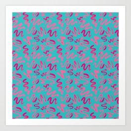 Squiggles Pattern Art Print