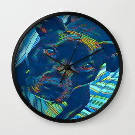 Pittie series from our POP YOUR POOCH line Wall Clock