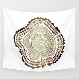 Tree Rings – Watercolor Ombre Wall Tapestry