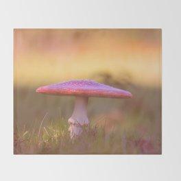 Fly agaric mushroom Throw Blanket