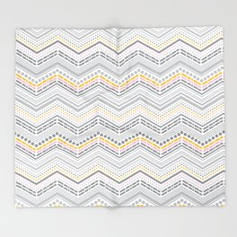 Dash & Dot - Neapolitan Chevron Throw Blanket