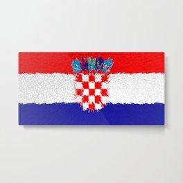 Extruded flag of Croatia Metal Print